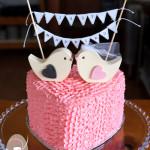 Bunting love bird buttercream ruffles Kenilworth wedding Gympie cakes