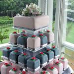 Montville Vineyard Pink & Grey Wedding Cake Tower Gympie & Sunshine Coast Cake Decorator