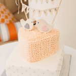 Heart and square shaped wedding cake made for a sunrise Noosa beach wedding with breakfast reception. Photo Credit: Lindy Photography Australia.