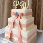 Square wedding cakes modern elegant design