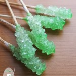 Rock candy sugar crystal lollipops