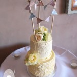 Flaxton Gardens wedding cake by Bonnies Cakes and Kandies