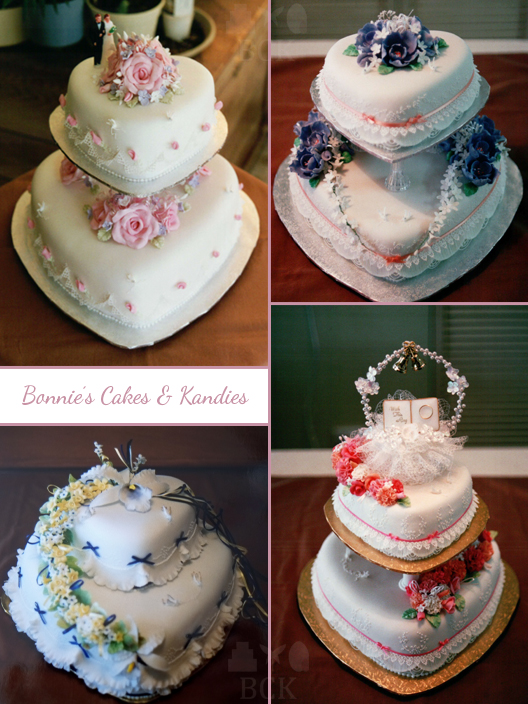 Heart-shaped wedding cakes – a popular style from the late 1980s-early 1990s  |  Bonnie's Cakes & Kandies
