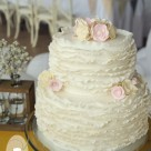 Vintage inspired ruffle wedding cake Kenilworth Homestead Gympie