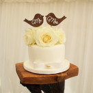 Lovebirds Roses Romantic Rustic Wedding Cake Gympie