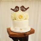 Lovebirds Roses Romantic Rustic Wedding Cake Gympie