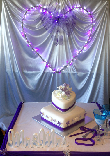 The cake table! Photo by:  Cake by: Bonnie's Cakes & Kandies.