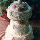 Elegant three tier native floral wedding cake Gympie Sydney Bonnies Cakes & Kandies
