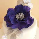 Silver and purple large open rose custom designed 50th birthday cake Bonnies Cakes & Kandies Kingston House Impressions Gympie