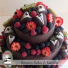 Fresh Summer Berries and Fruits Dark Chocolate Ganache Covered Chocolate Fudge and White Chocolate Mud Cake 50th Birthday Celebration Cake Gympie Rainbow Beach Kilkivan Noosa Cooroy T