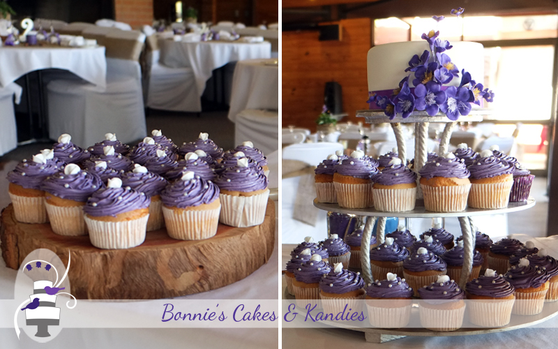Wedding cake and cupcakes Gympie