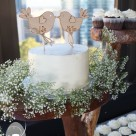 Egg free dairy free buttercream covered wedding cake with rustic earthy feel for Hotel Urban Brisbane wedding