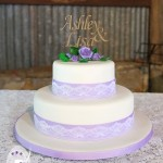 Classic roses, ribbon and lace with a personal touch  {Gympie/Kia Ora wedding cake}