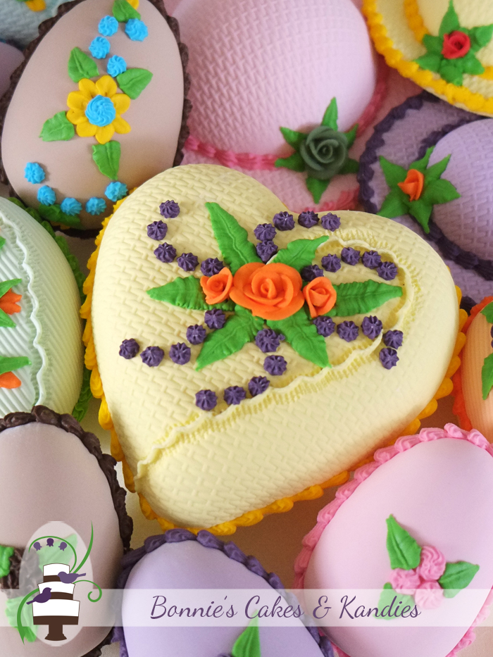 Handmade traditional candy Easter eggs