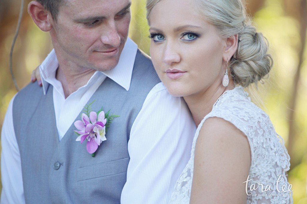 The beautiful Lorrae and Adam, married at Twin Waters on the Sunshine Coast | Photo credit: Tara Lee Photography