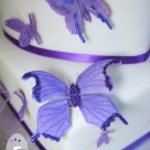 Handmade butterflies added a special touch to the wedding cake |  Bonnie's Cakes & Kandies