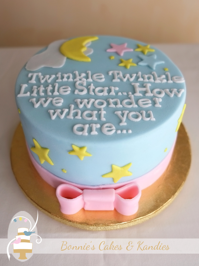 Bec & Sam's gluten free baby shower cake | Bonnie's Cakes & Kandies