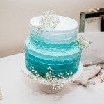 Dreamy ombre buttercream for a Sunshine Beach wedding cake