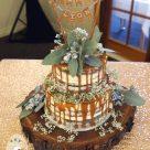 Semi naked cake at Topiaries at Beaumont Samford Valley
