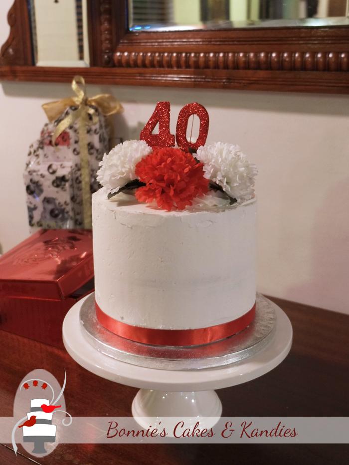 Fortieth wedding anniversary cake gluten free dairy free cake