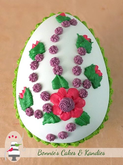 Large Candy Flower Egg by Bonnie's Cakes & Kandies