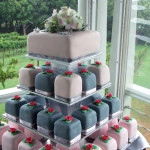 Montville Vineyard Pink & Grey Wedding Cake Tower Gympie & Sunshine Coast Cake Decorator