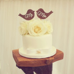 Romantic Rustic Love Bird Wedding Cake Gympie
