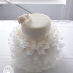 Romantic White Modern Vintage Couture Wedding Dress Cake Mooloolaba Gympie Wedding Cakes
