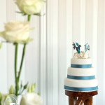 Rainbow Beach wedding cake by Bonnie's Cakes & Kandies