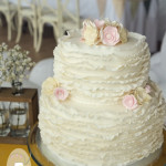 Vintage inspired ruffle wedding cake Kenilworth Homestead Gympie - Gluten free