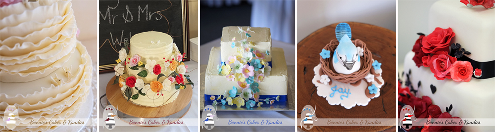 Custom made wedding, birthday, and special occasion cakes by Bonnie's Cakes & Kandies