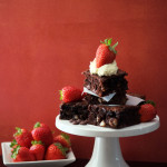 Strawberry-Topped Macadamia Brownies (Gluten Free, Grain Free) and the Search for the Perfect Wedding Dress