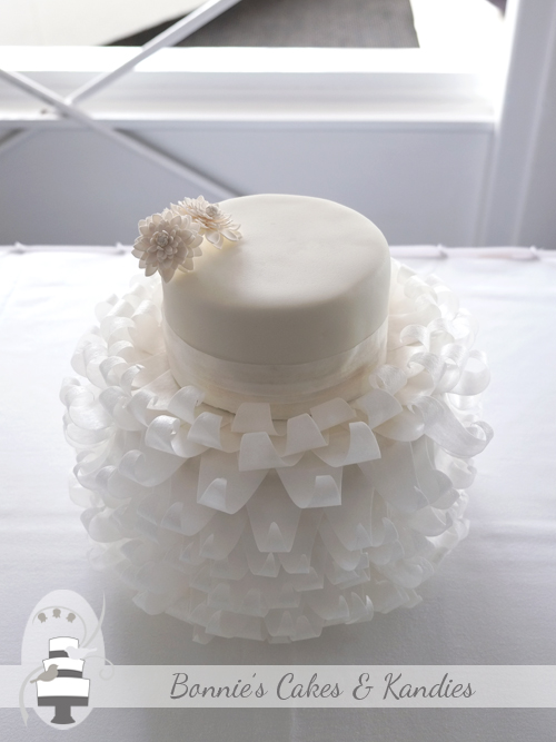 Wedding dress frill cake Mooloolaba