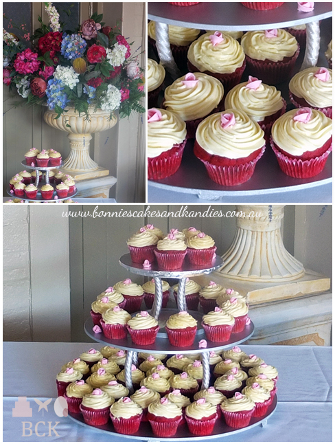 Red velvet cupcakes for a 21st birthday party held at The Decks on Mary in Gympie  |  Bonnie's Cakes & Kandies
