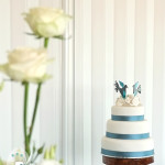 White Roses and Lovebirds for a Spring Wedding {Rainbow Beach Wedding Cake}