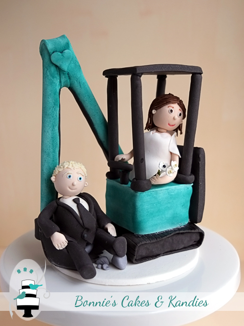 Custom made wedding cake toppers