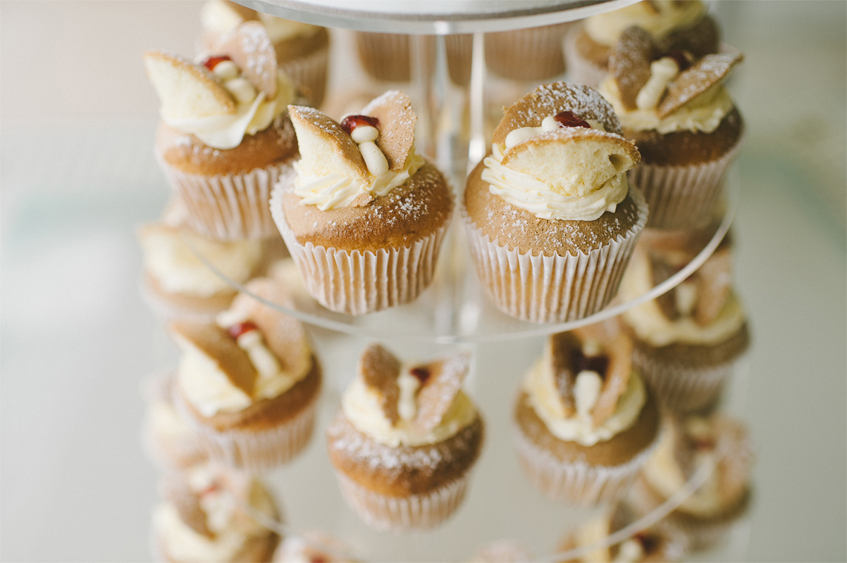 Old-fashioned bakery style butterfly cupcakes superbly captured by Anya Maria Photography