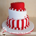 Striking red and white for a match that was 'meant to be'  {Gympie Wedding Cakes}