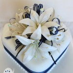 Navy blue and white for a North Queensland winter wedding {Hughenden wedding cake}