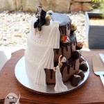 Traditional elegance with a dark side! {Gympie Wedding Cake}