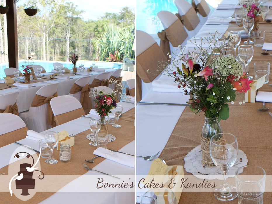 The wedding was beautifully decorated by Fuss and Flair Wedding and Event Decorators |  Bonnie's Cakes & Kandies