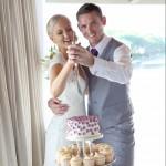 Twin Waters Wedding Cake with Tara Lee Photography