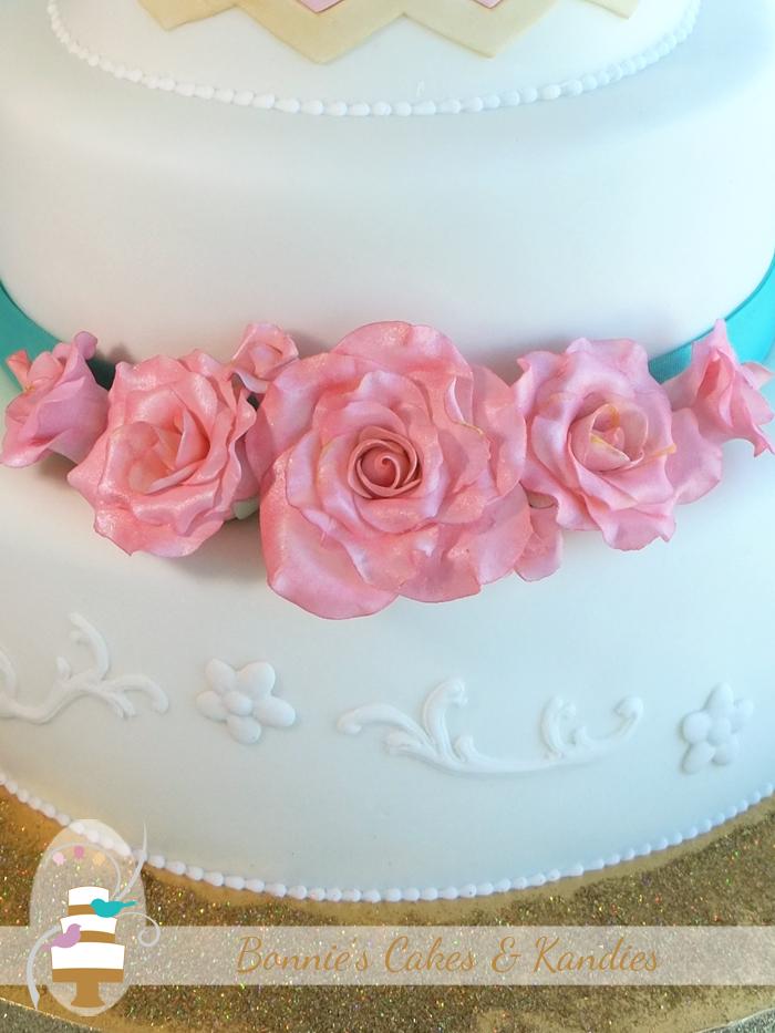 Rainbow Beach Surf Club Wedding Cake