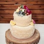 Rainbow Beach Wedding Cake with Photography by Bambi