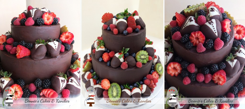 Chocolate and fruit – a dream combination for celebration cakes| Bonnie's Cakes & Kandies