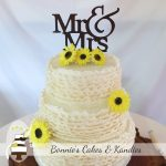 Sunflowers and ruffles at Pie Creek Hall