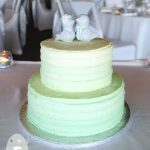 A couple as adorable as their sweet cake toppers  {Twin Waters Wedding Cake}