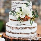 Semi naked wedding cake Bonnies Cakes and Kandies Sunshine Coast Gympie wedding cakes
