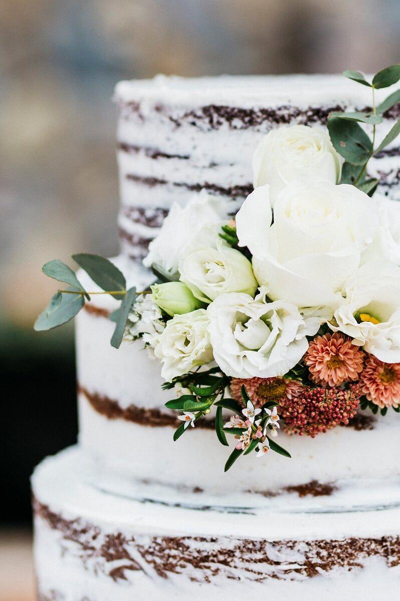 gluten and dairy free semi naked wedding cake Montville Sunshine Coast