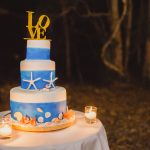 Destination wedding – Fraser Island wedding cake  {with All the Love in the World Photography}